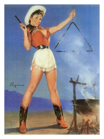 cowgirl-barbeque-pin-up-girl-poster